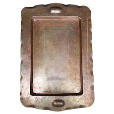 Vintage 1938 Copper Serving Tray
