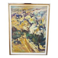 Oil Painting of Jerusalem by Zoma Baitler
