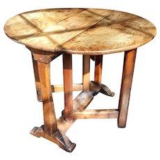 Antique 18th-Century French Oak Drop Leaf Table