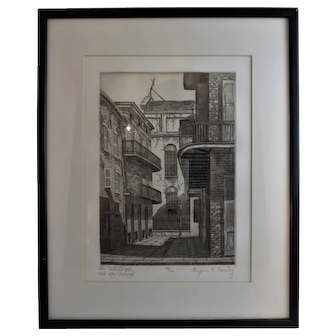 The Cabildo Alley - Old New Orleans by Eugene E. Loving