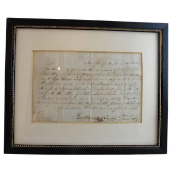 """1844 Receipt for 50 Barrels Sperm Oil, the Ship """"NILE"""" of New Bedford"""