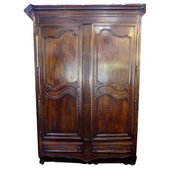 18th Century Normand French Armoire With Modern Bar Conversion
