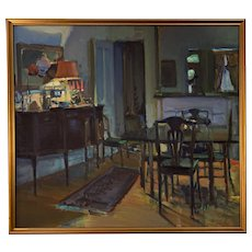 Dining Room Oil Painting by Addison Hodges