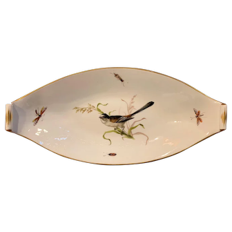 Meissen Oval Bird and Insect Dish c.1912