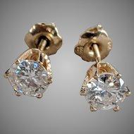 14k Screwback Diamond Studs