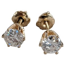 14k Screwback Diamond Studs