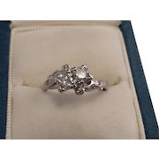 Platinum Double Diamond Ring