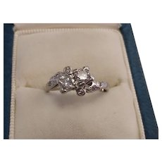 Platinum Double Diamond Ring