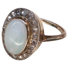 14k/18k/Silver Diamond & Opal Ring
