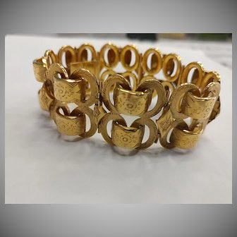Large French 18k Gold Bracelet