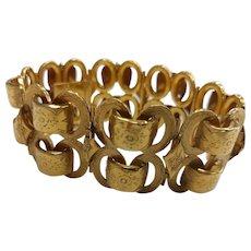 Large French 18k Gold Bracelet