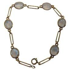 14k Blue Flash Moonstone Bracelet