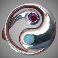 14k Ruby & Opal Ring