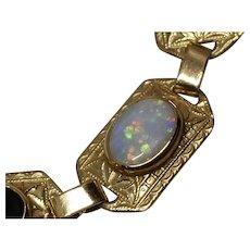 10k Opal Onyx Bracelet