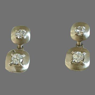 14k Euro Diamond Earrings