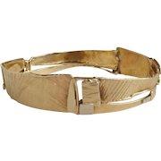14k Abstract Bangle Bracelet