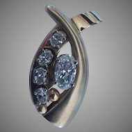 1.43ctw  (.95ct VVs1 F Excellent Cut Oval) Diamond Pendant