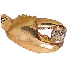 Studio 14k Diamond Lobster Claw Pendant