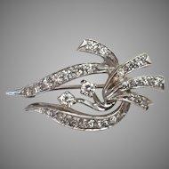 14k Diamond Pendant or Brooch