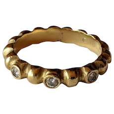 Designer Jane Bohan 18k Diamond Head Band