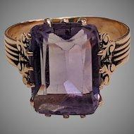 14k Antique Amethyst Ring