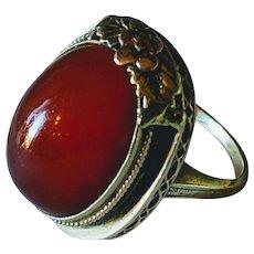 14k Large Carnelian Ring