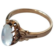 Antique 10k Moonstone Ring