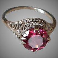 10k Rhodolite Garnet Ring