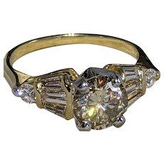 18k/ Plat. 2.25ctw Diamond Ring