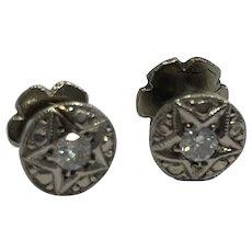 10k Diamond Star Earrings