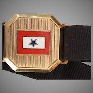 Antique 14k Enamel WWI Service Star Bracelet
