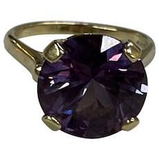 14k Large Color Changing Sapphire Ring