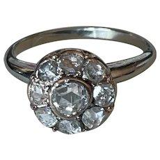 14kt Collet Set Rose Cut  Diamond Ring