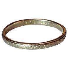 Antique 18k Engraved Band