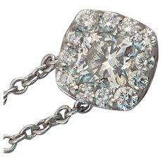 Designer 18k Diamond Halo Necklace