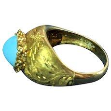 18k Persian Turquoise Ring