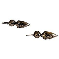 10k Victorian Dangle Earrings