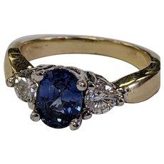 High Quality 2ctw 14k Sapphire Diamond Ring