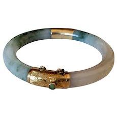 Vintage Carl K. Gumpter Jadeite Bracelet