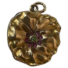 SOB & Co G.F.  Art Nouveau Pansy Locket