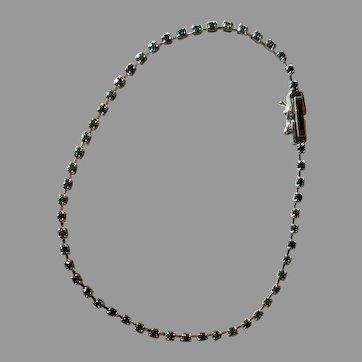 Dainty Platinum Sapphire Bracelet