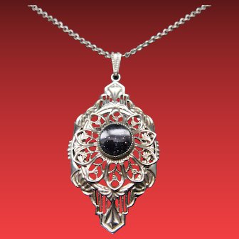 Art Deco Filigree Necklace / Pendant