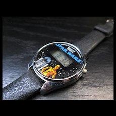1980 Star Wars digital wristwatch C-3PO and R2-D2