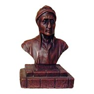 Wonderful Vintage French Bronze Clad Statue of Dante Alighieri C. 1900-1930