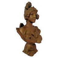 Fine Antique French Art Nouveau Bust of WATER NYMPH by E Villanis C 1880-1910