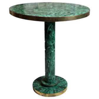 Vintage Russian Malachite Side/Occasional Table