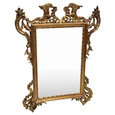 French Antique Rococo Style Gilt Wood Carved Mirror