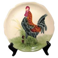 Majolica French Rooster  Plate
