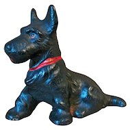 Hubley Cast Iron Scottie Dog Paperweight Circa 1930's