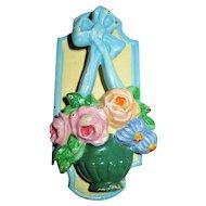 """Circa 1930'sCast Iron Door  Knocker """"Flower Basket"""" Hubley #728"""